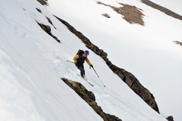 John on skinny skis...